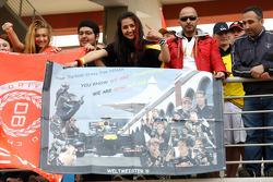 A banner in the crowd for Sebastian Vettel, Red Bull Racing