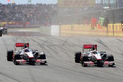 Jenson Button, McLaren Mercedes, MP4-26, Lewis Hamilton, McLaren Mercedes