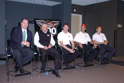 From left: Chip Ganassi, Mike Hull, Scott Dixon, Darren Manning and Ryan Briscoe