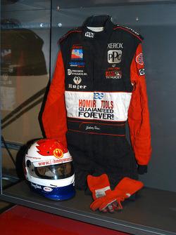 Johnny Unser exhibit in Indy 500 room