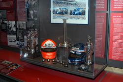 Al Unser, Jr. display in Indy 500 room
