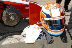 The helmet of Giorgio Pantano