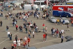 Fans watch the Klein Tools air show