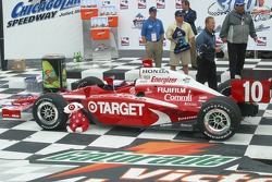 Victory lane: Dan Wheldon's winning car