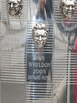 Dan Wheldon's image is emblazoned on the Borg Warner Trophy