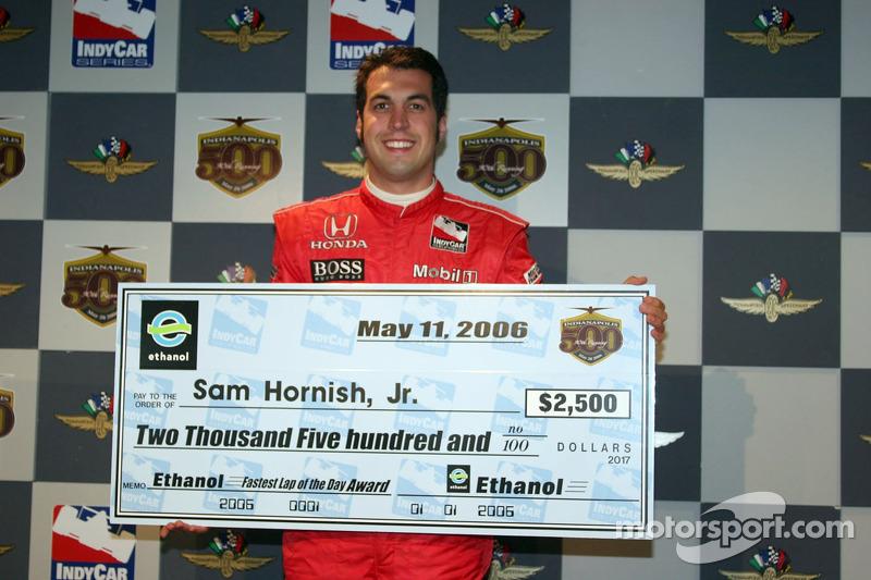 Sam Hornish Jr. Le plus rapide de la journée