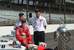 Roger Penske, Sam Hornish Jr. and Tim Cedric
