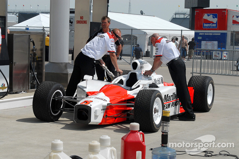 Ravitaillement final pour la Dallara de Sam Hornish Jr.