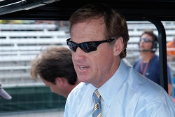 Veteran driver and rookie racecaster Rusty Wallace