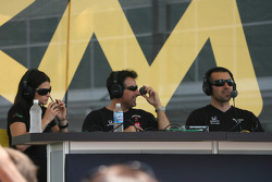 Danica Patrick, Michael Andretti and Dario Franchitti