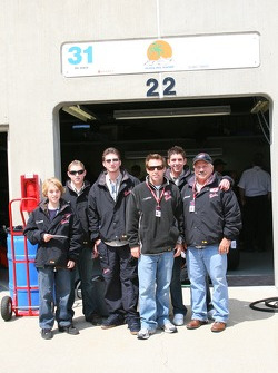 Phil Giebler and the Staring of Karting tour the garage area