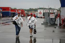 Fans invest in rain gear