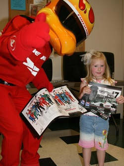 Firestone Corporate Employee Function: the Firestone Firehawk with a young fan