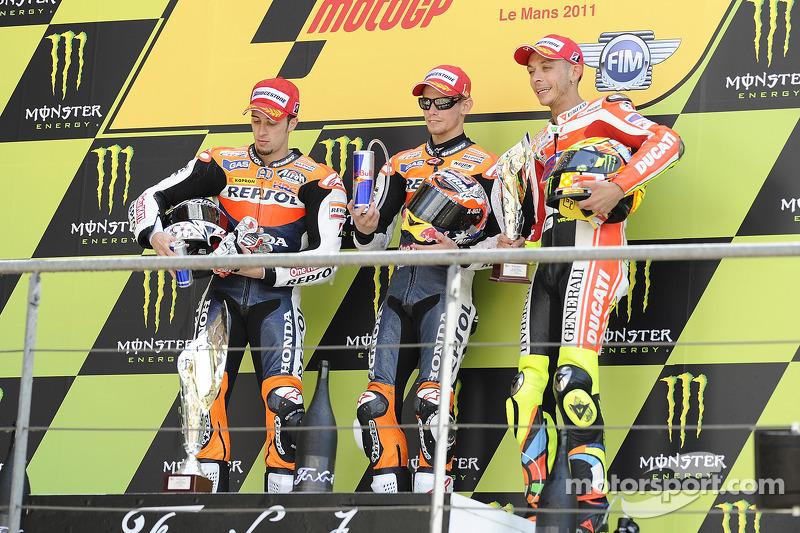 2011: Podio: 1. Casey Stoner, 2. Andrea Dovizioso, 3. Valentino Rossi