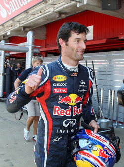 Mark Webber, Red Bull Racing on pole