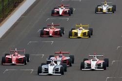 Josef Newgarden, Sam Schmidt Motorsports, Stefan Wilson, Andretti Motorsport, Esteban Guerrieri, Sam Schmidt Motorsports, Anders Krohn, Belardi Auto Racing