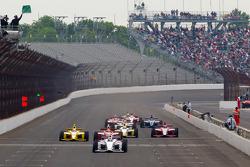 Restart: Josef Newgarden, Sam Schmidt Motorsports leads the field