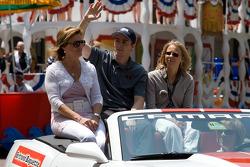 Indy 500 festival parade: Bertrand Baguette, Rahal Letterman Lanigan