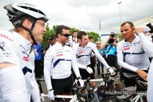 Sébastien Bourdais, Pedro Lamy, Simon Pagenaud and Stéphane Sarrazin