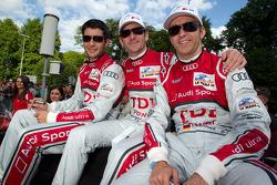 Mike Rockenfeller, Romain Dumas and Timo Bernhard