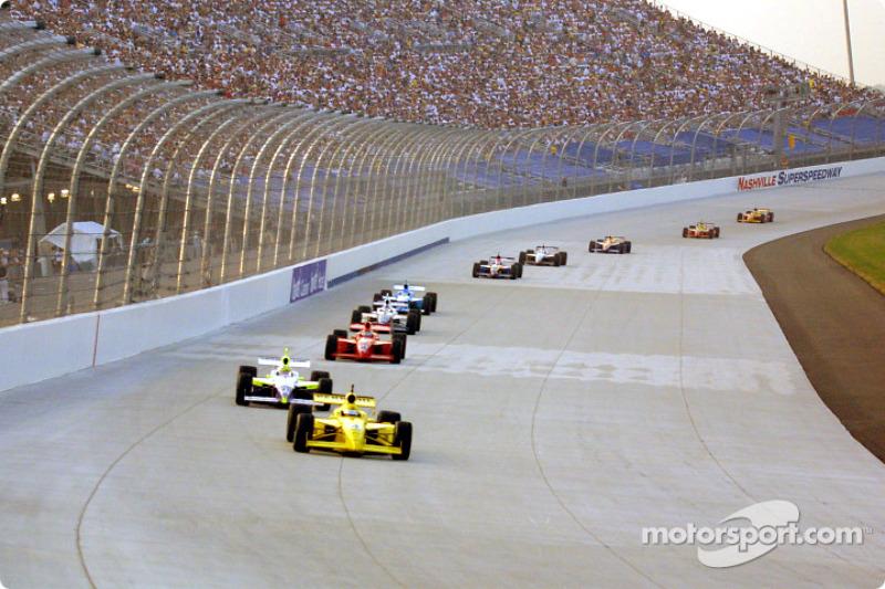 Race action: Sam Hornish Jr.