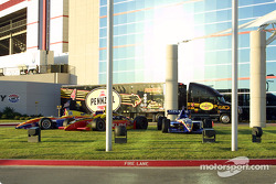 Indy Racing cars on display