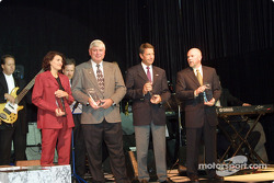 Manufacturer Awards were presented to Caterina Dallara (Dallara Automobili), Al Speyer (Bridgestone/Firestone), Bernard Dudot (Infiniti Sports) and Brad Stout (Delphi Automotive Systems)