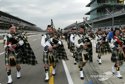 The Gordon Pipers before qualifying