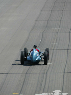 The famous #3 Blue Crown Special: the historic car was driven to a first place finish in the 1947 and 1949 Indy 500 by Mauri Rose; Johnny Rutherford drove the car for this legends of the Indy 500 event