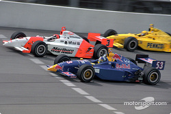 Buddy Rice, Helio Castroneves and Sam Hornish Jr.