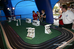 Toyota Indy Feat held in South Beach, Miami: slot cars competition