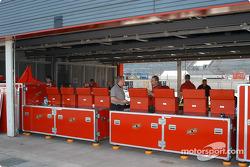 Twin Ring Motegi garage area