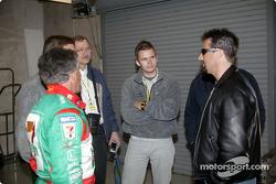 Mario Andretti, Dan Wheldon and Michael Andretti