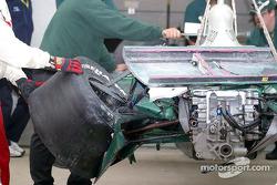 Damage on A.J. Foyt IV's car