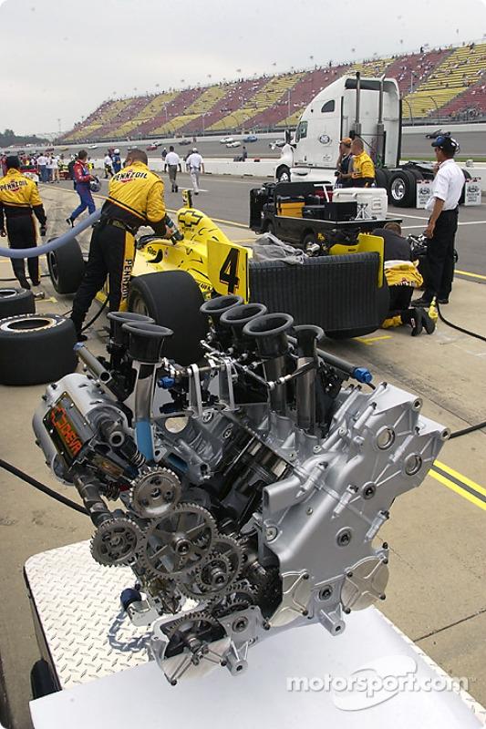 La motorisation de la Chevrolet exposée
