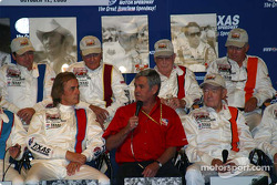 Press conference: Al Unser Sr. at the mike