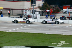 Practice session 1: Parnelli Jones and Scott Goodyear