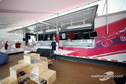 Cheever Racing merchandising area
