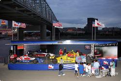 IRL cars on display
