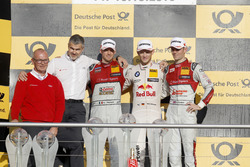 Podium championship: Champion Marco Wittmann, BMW Team RMG, BMW M4 DTM; second place Edoardo Mortara, Audi Sport Team Abt Sportsline, Audi RS 5 DTM; third place Jamie Green, Audi Sport Team Rosberg, Audi RS 5 DTM; Best manufacture, Dieter Gass, Head of DTM