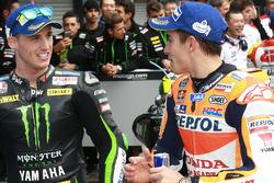 Ganador de la pole Marc Márquez, Repsol Honda Team, tercero Pol Espargaró, Monster Yamaha Tech 3