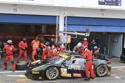 Pit stop #56 AT Racing Ferrari F458 Italia: Alexander Talkanitsa Sr., Alexander Talkanitsa Jr., Alessandro Pier Guidi