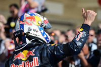 Daniel Ricciardo, Red Bull Racing celebrates his third position in parc ferme