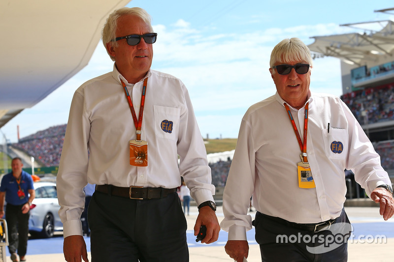 (L to R): Charlie Whiting, FIA Delegate with Herbie Blash, FIA Delegate