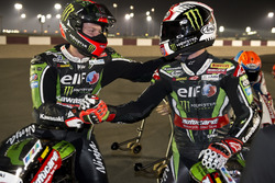 Campeón del mundo Jonathan Rea, Kawasaki Racing y Tom Sykes, Kawasaki Racing