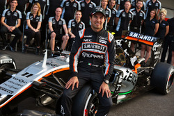 Sergio Pérez, Sahara Force India F1 en la foto del equipo