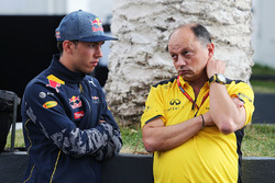 (L to R): Pierre Gasly, Red Bull Racing Third Driver with Frederic Vasseur, Renault Sport F1 Team Racing Director