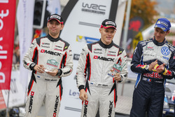 Podium: twede Ott Tanak, Raigo Molder, DMACK World Rally Team