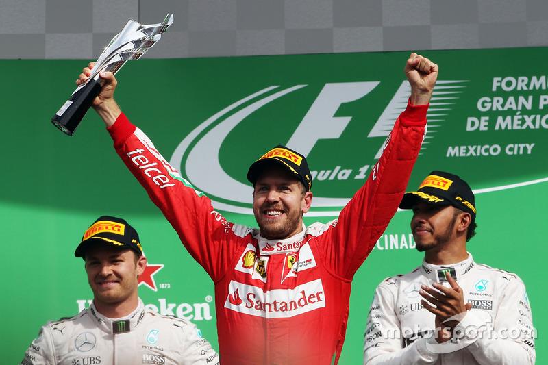 19. GP de México 2016: Sebastian Vettel (subió al podio como 3º pero finalmente fue 5º)