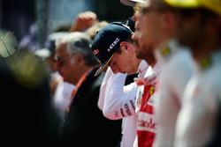 Max Verstappen, Red Bull Racing durante el himno